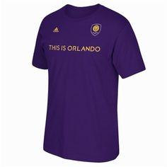Orlando City SC adidas Secondary Jersey Hook T-Shirt – Purple Canada Soccer, Orlando City, Major League Soccer, Adidas, Toe, Purple, My Style, Mens Tops, T Shirt
