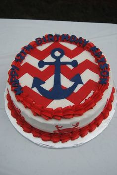 anchor cakes for girls | anchor smash cake