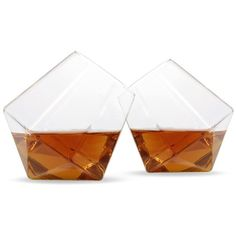 Groovy Chimp Diamond Whiskey Glass Set ($26) ❤ liked on Polyvore featuring home, kitchen & dining, drinkware, whisky glass set and whiskey glass set