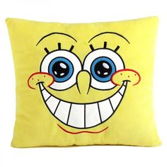 SpongeBob SquarePants cartoon decorative throw pillows for  Kids bedroom