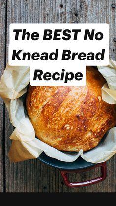 Bread Maker Recipes, Artisan Bread Recipes, Yeast Bread Recipes, Knead Bread Recipe, No Knead Bread, No Yeast Bread, Homemade White Bread, Best Homemade Bread Recipe, Homemade Breads