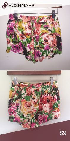 Wet Seal Floral Shorts These shorts have been worn once and in great condition Wet Seal Shorts