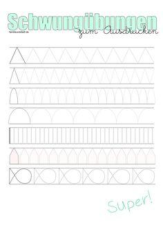 Super Schwungübungen | A Pinterest collection by Katrin Straub | Baby #BG_38
