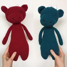 Dragon by makingmeg. Crochet pattern by Little Bear Crochets: www.littlebearcrochets.com ❤️ #littlebearcrochets #amigurumi