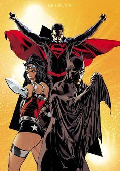 DC Trinity - Batman, Wonder Woman, and Superman by Stephen Mooney *