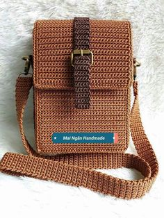 65 trendy sewing backpack leather michael kors – Top Of The World Crochet Backpack, Crochet Clutch, Crochet Handbags, Crochet Purses, Crochet Case, Wallet Sewing Pattern, Crochet Purse Patterns, Sewing Patterns, Crotchet Bags