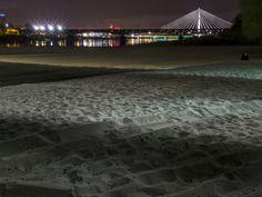 Plaża i most Świętokrzyski