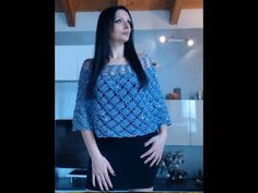 MANTELLINA ESTIVA ALL'UNCINETTO 1 di 2 - YouTube