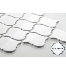 Arabeska duża, biała, szkliwiona http://www.mozaikowe.pl/20-plytki-podlogowe