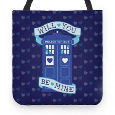 Will You Be Mine (Tardis) Tote