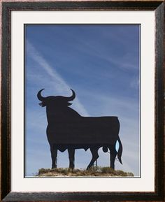 Famous Bull Symbols of the Bodegas Osborne, Puerto De Santa Maria, Spain Photographic Print by Walter Bibikow at Art.com