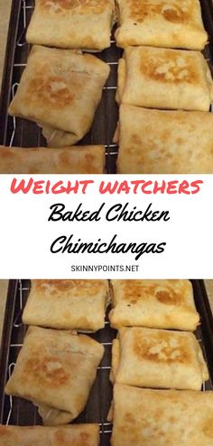Baked Chicken Chimichangas - #weightwatchers #weight_watchers #Healthy #Baked #Chicken #skinny_food #Chimichangas #recipes #smartpoints