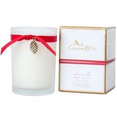 Olivian Cypress & Fir Glass Candle  #WhimsicalUmbrella #HomeDecor #Gift whimsicalumbrella.com