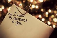 Aw so cute All i want for Christmas is you.  What a cute idea..instead of a gift tell someone you care you love them!!