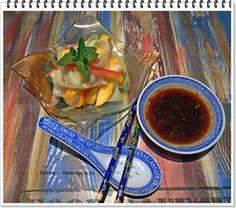 Eisbein, Seezunge & Co: Mango Gurkensalat mit asiatischem Dressing