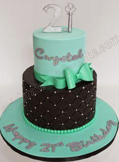 21st Birthday Bday Cake Co Fondant