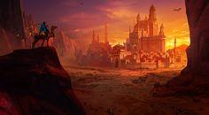Fantasy work : Desert city Inspired by K o o d