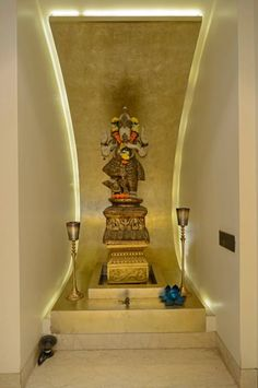 Interior Design for Pooja Room Wall Units - Indian Pooja Room Designs Drawing Room Interior, Hall Interior Design, Drawing Room Design, Small Room Interior, Latest House Designs, Room Door Design, Ceiling Design Bedroom, Drawing Room Furniture, Pooja Room Design