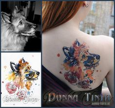 Watercolor Dog - by www.donna-tinta.de-for puddin