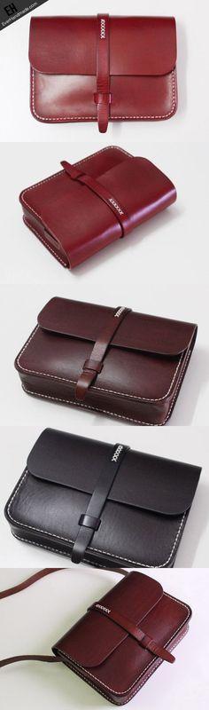 cool Handmade Leather satchel bag shoulder bag black red for women leather crossbody ...