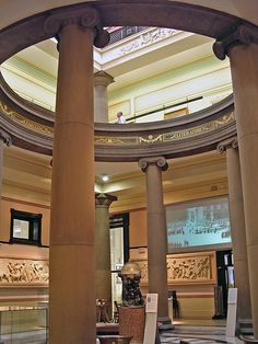 Lower part of the atrium in the Harris Museum and Art Gallery, Preston, Lancashire Preston Lancashire, Old Photography, Industrial Revolution, Cumbria, Atrium, Wonderful Places, Museums, Art Gallery, England