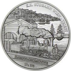 20 Euro Silber Südbahn Wien-Triest PP