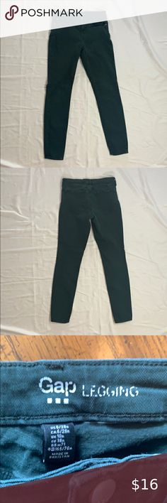 LOFT dark caper green zip pocket ponte thick legging skinny pants NWT size 6 or