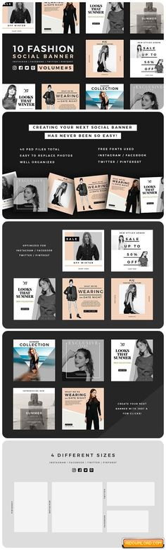 Fashion Social Banner Pack 5 Free Download | Free Graphic Templates, Fonts, Logos & Icons, PSD, AI