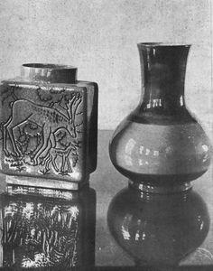 İsmail Hakkı Oygar, Geyikli ve Türkmen vazo   (Hasan Şahbaz archive)