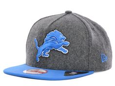 Detroit Lions New Era NFL Classic Melt A-Frame 9FIFTY Strapback Cap Hats  Strapback Cap 052929ab5