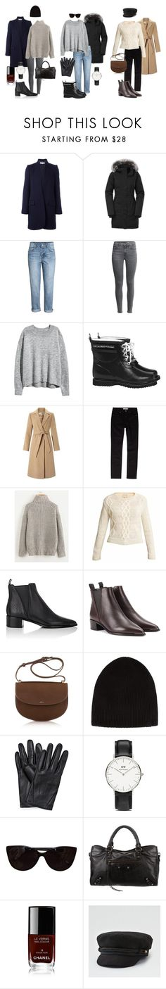 """Winter outfit ideas."" by uselessdk on Polyvore featuring STELLA McCARTNEY, The North Face, H&M, Ilse Jacobsen Hornbaek, Miss Selfridge, John Lewis, Acne Studios, A.P.C., rag & bone and Daniel Wellington"