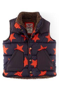 Mini Boden Fleece Lined Vest (Toddler Boys, Little Boys