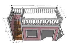 Playhouse Loft Bed.