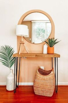 If you have a small entryway wall this idea will help your entryway feel more defined. Perfect if you're decorating on a budget this quick idea is creative and cheap. #hometalk
