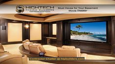 Home Theater Ideas – Design Ideas for Home Theaters There's nothing like watching a movie in the comfort of your own home. With these home theater ideas from HGTV you may never go back to the multiplex!