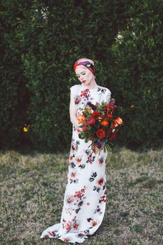 Red florals everywhere!