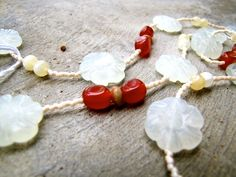Carnelian Agate & Carved Flowers — Amy's Natural Creations