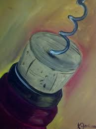 wine & canvas paintings - Google Search (Frame with corks?)
