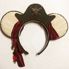 Pirates of the Caribbean Inspired Mouse Ears by AllEarsBoutiqueCo