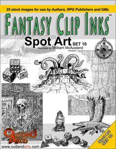 Fantasy Clip Inks:: Spot Art Set 10 - Outland Arts | RPGNow.com