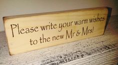 Rustic Wedding guest book reminder Sign Please write your warm wishes to the new Mr & Mrs rustic pine chocolate lettering