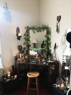 Home Decoration Ideas Boho Which Witch Is Which? curuni: Reasons why my altar is so important to.Home Decoration Ideas Boho Which Witch Is Which? curuni: Reasons why my altar is so important to. My New Room, My Room, Dorm Room, Room Ideas Bedroom, Bedroom Decor, Goth Bedroom, Grunge Bedroom, Hippie Bedrooms, Fantasy Bedroom