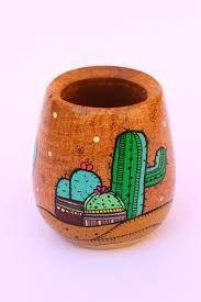 Resultado de imagen para mates pintados Mini Cactus, Cactus Art, Cactus Flower, Indoor Cactus, Cactus Plants, Painted Clay Pots, Painted Flower Pots, Diy Crafts To Do, Clay Pot Crafts