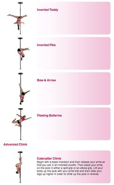 Pole Dance Training - Advanced poses part 3 and climb - My type of workout! Pole Fitness Moves, Pole Fitness Classes, Pole Dance Moves, Pole Dancing Fitness, Barre Fitness, Fitness Exercises, Workouts, Aerial Dance, Aerial Yoga