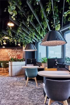 Through our design, a thriving and dynamic hub has been created whereby employees are invigorated to perform at their best Timber Panelling, Life Insurance Companies, Curved Walls, Interior Work, Workplace Design, Architecture Office, Design Language, Concrete Jungle, Hospitality Design