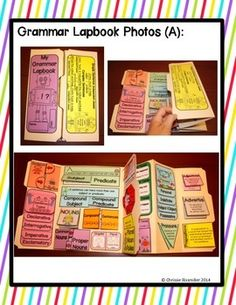 Grammar Lapbook- this is a year-long double lapbook filled with skills for 3rd and 4th grade