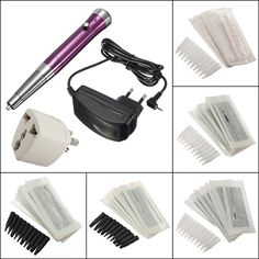 Body Tattoo Eyebrow Machine Pencil 50 Needles Set Kit is easy to operate and cost-efficient, tattoo machine kits are user-friendly and good quanlity-NewChic. Makeup Set, Makeup Tips, Eye Makeup, Beauty Makeup, Permanent Eyebrows, Permanent Makeup, Makeup Tattoos, Body Art Tattoos, Rotary Tattoo