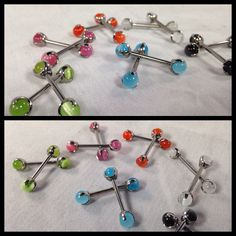 Attractive prong set cat eye barbells from Industrial Strength now in stock at Something  Beautiful Tattoo & Piercing ❤️