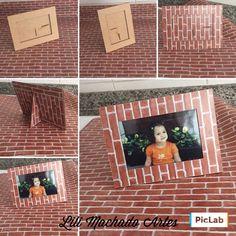 Porta retratos estampa tijolinhos 📸📸