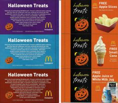McDonalds Halloween Treats Coupon Booklet Only $1 – Includes 12 FREE Product Coupons